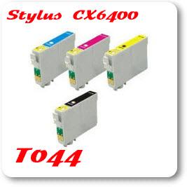 Epson Stylus CX6400 T044 Epson Compatible Ink Cartridges