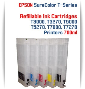 EPSON SureColor T5000, T5270 Refillable Printer Ink Cartridges 700ml