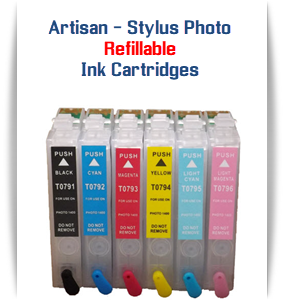 EPSON Artisan 1430 - Stylus Photo 1400 Printer Refillable Ink Cartridges