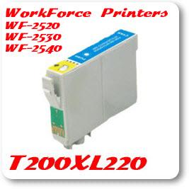 T200XL220 Cyan WorkForce WF Compatible Pigment Ink Cartridge