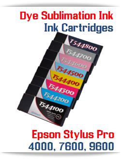 Dye Sublimation Filled Ink Cartridges Epson Stylus Pro 4000, 7600, 9600 printers