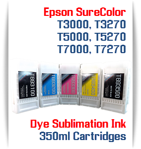 EPSON SureColor T-Series Compatible Dye Sublimation ink Cartridges 350ml