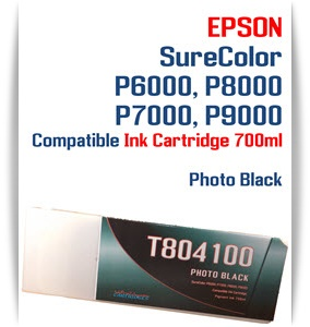 T804100 Photo Black Epson SureColor P6000, P7000, P8000, P9000 Ink Cartridges 700ml