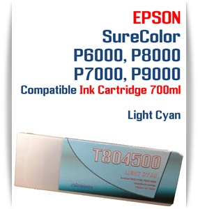 T804500 Light Cyan Epson SureColor P6000, P7000, P8000, P9000 Ink Cartridges 700ml