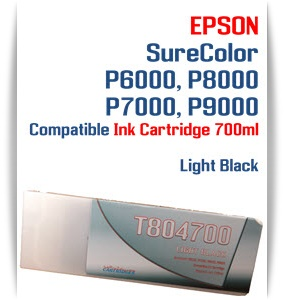 T804700 Light Black Epson SureColor P6000, P7000, P8000, P9000 Ink Cartridges 700ml