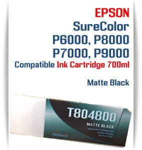 T804800 Matte Black Epson SureColor P6000, P7000, P8000, P9000 Ink Cartridges 700ml