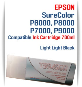 T804900 Light Light Black Epson SureColor P6000, P7000, P8000, P9000 Ink Cartridges 700ml
